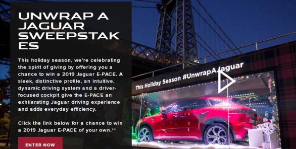 The Unwrap A Jaguar Sweepstakes