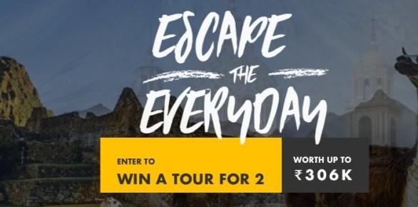 Tour Radar Escape The Everyday Sweepstakes