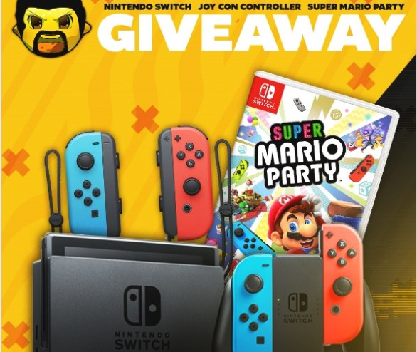 Vast Nintendo Switch, Super Mario Party, Joy-Con Controller Giveaway