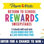 Box Tops 4 Education Paper Mate Return To School Rewards Sweepstakes