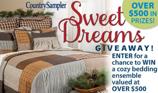 Country Sampler Sweet Dreams Giveaway