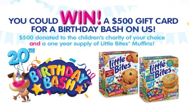 Entenmanns Little Bites 20th Birthday Bash Sweepstakes