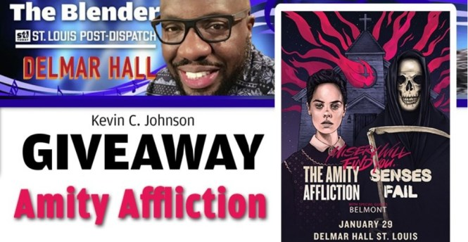 Kevin C Johnson Amity Affliction Ticket Giveaway
