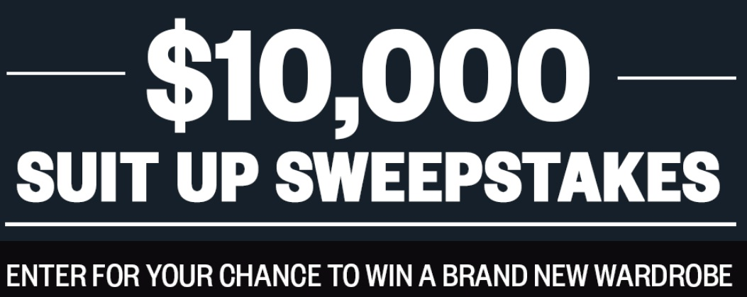 Men's Health $10000 Suit-Up Sweepstakes - Win $10000 Check