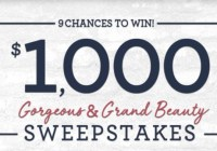 QVC Gorgeous And Grand Beauty Sweepstakes