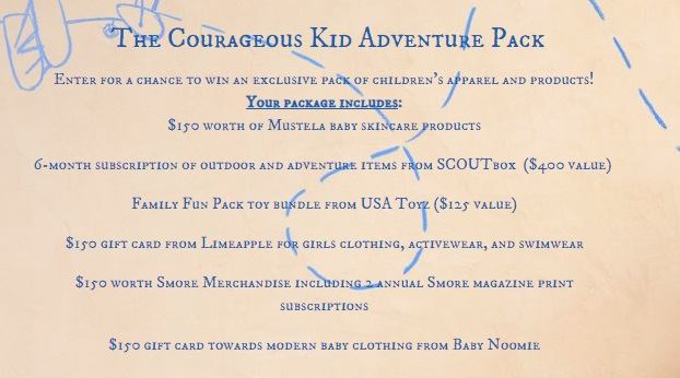 The Courageous Kid Adventure Pack Sweepstakes
