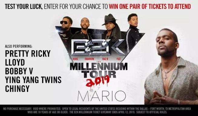 97.9 The Beat B2K Millennium Tour Giveaway
