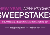 Cabinets To Go New Year, New Kitchen Sweepstakes