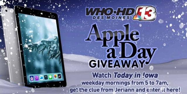 Channel 13's Winter Apple A Day Giveaway