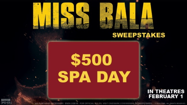 Cinemark Miss Bala Sweepstakes