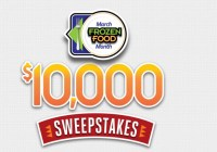 Easy Home Meals March Frozen Food Month $10000 Sweepstakes