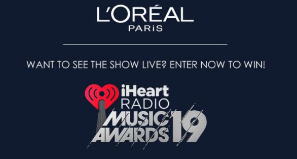 LOreal Paris iHeartRadio Music Awards Sweepstakes