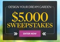 Martha Stewart Design Your Dream Garden $5000 Sweepstakes
