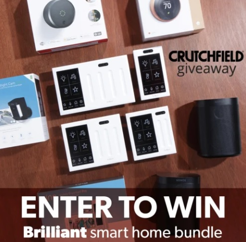 Crutchfield Brilliant Smart Home Great Gear Giveaway