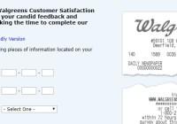 Walgreens Customer Satisfaction Sweepstakes