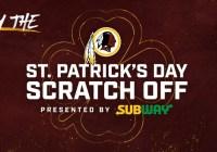 Washington Redskins Subway Scratch-Off Game