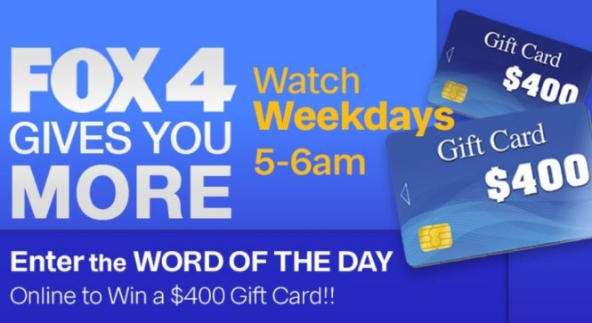 Fox4KC Four Gives You More Sweepstakes