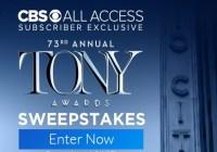 2019 Tony Awards Sweepstakes