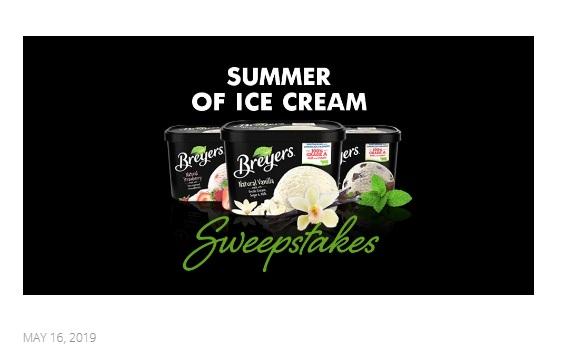 Breyers Summer Of Ice Cream Contest