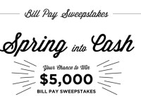 Core Bank Bill Pay Sweepstakes