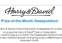 Harry And David Prize Of The Month Sweepstakes