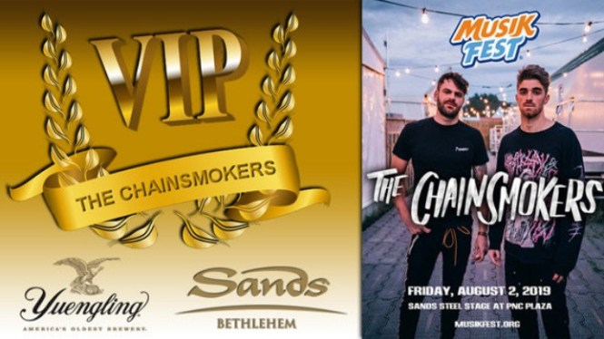 B104 Allentown Chainsmokers VIP Sweepstakes