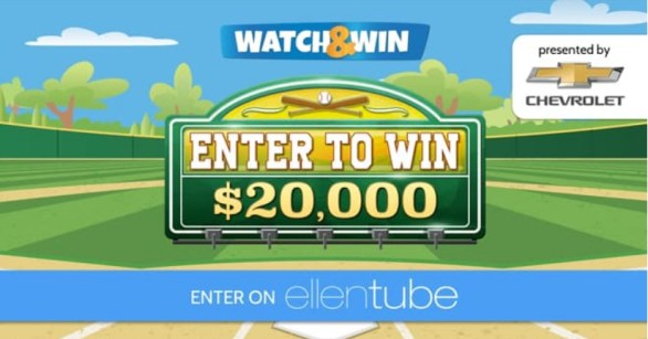 Ellen DeGeneres Chevy Watch And Win Giveaway