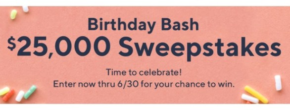 QVC Birthday Bash $25000 Sweepstakes - Win $25000 Cash
