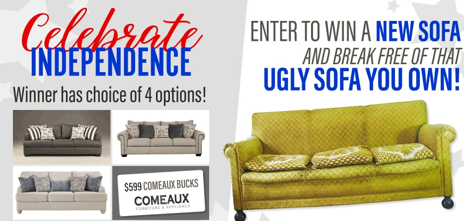 WWL-TV Comeaux Ugly Sofa Contest - Enter To Win 3 Sofas