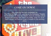 Wane The Price Is Right LIVE Ticket Giveaway