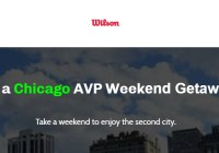 Wilson Chicago AVP Weekend Getaway Sweepstakes