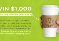 Yerba Mate Gleam Social Sweepstakes