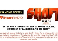 iHeartRadio Shaft Fandango Sweepstakes