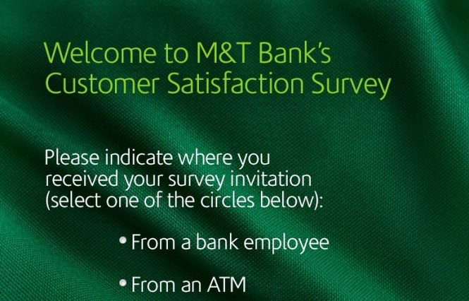 M And T Bank Customer Satisfaction Survey Sweepstakes