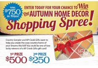 2019 Autumn Home Decor Shopping Spree Giveaway