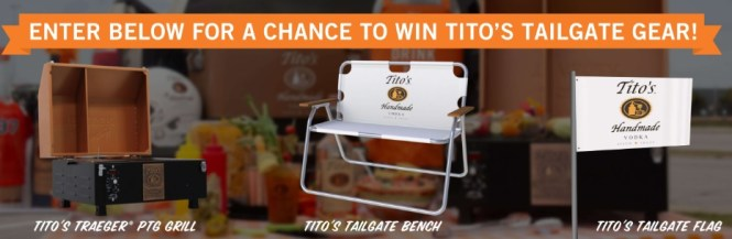 Titos Fall Tailgating Sweepstakes
