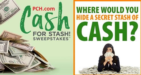$20,000 in PCH Secret Cash Stash Sweepstakes - Win $20,000