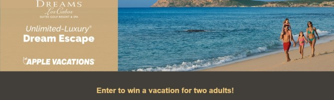 Apple Vacations Dream Escape Giveaway