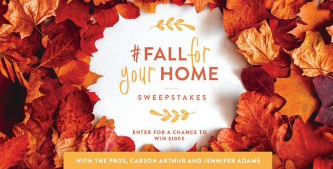 Bhg Fall For Your Home Sweepstakes Win Grand Prize Package