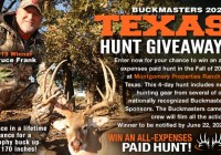 Buckmasters 2020 Texas Hunt Giveaway