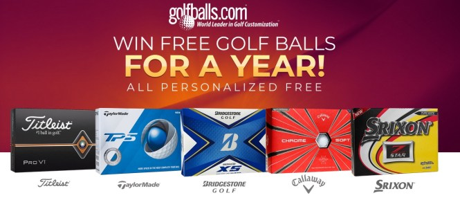 Golfballs Golf Balls For A Year Sweepstakes