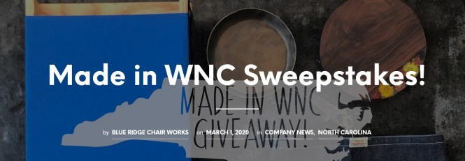 Made In Wnc Giveaway Sweepstakes