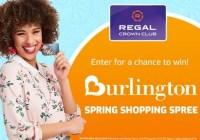 Regal Burlington Spring Shopping Spree Sweepstakes