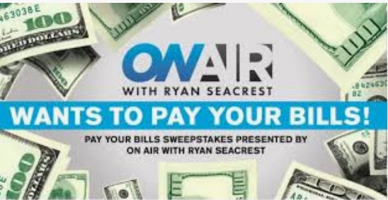 Ryan Seacrest Pay Your Bills Sweepstakes
