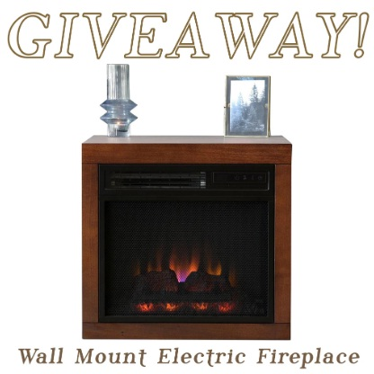 Woodwaves Electric Fireplace Giveaway