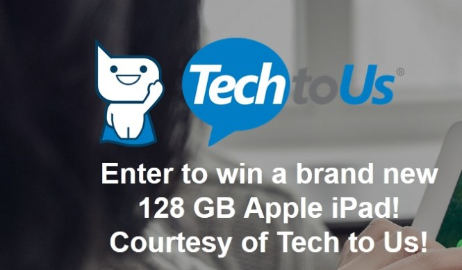 Tech To Us 128 GB Apple IPad Giveaway