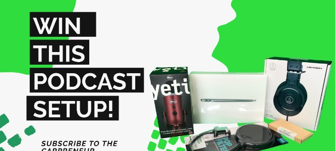 CarPreneur Podcast Podcast Setup Giveaway