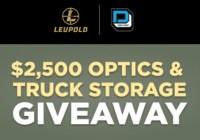 Leupold $2,500 Optics And Truck Storage Giveaway