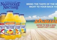 Nantucket Nectars Shaws Giftcard Sweepstakes