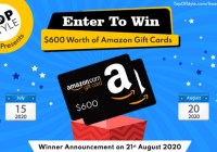 Topofstyle $600 Amazon Gift Card Sweepstakes